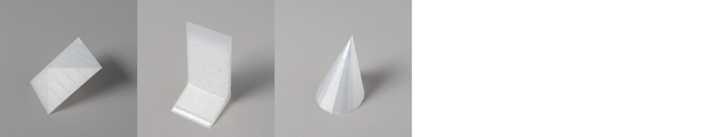 "Form study: Faced Series Size: 4"" x 4""  Material: PLA"