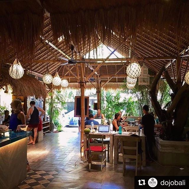 I'm imagining the commute isn't so bad when you're headed to work at @dojobali made with with @repostapp ・・・ Morning vibe at Dojo. . . . .  #dojobali #bali #canggu #echobeach #coworking #community #dojolove #remotework #digitalnomad #locationindependant #coworkingspace #islandlife #futureofwork #worklifebalance #paradise #coworkingindonesia #beach #worknextobeach #coworkingspace  #digitalnomads #entrepreneur #knowledge #skillshare #nolocation #corporateretreats #startuplife #workcation #remoteworking