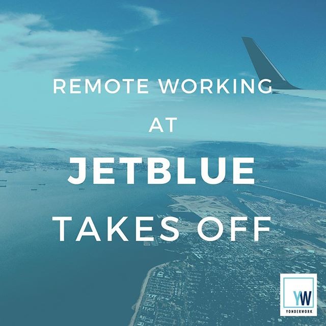 "Today on the #blog, we explore why JetBlue is such an inspiring example of remote work done right ✈️ . Founder David Neeleman ""figured that the reservation agents -- who take more than ten million calls a year -- would be happier at home than in some call cubicle warehouse"" . Click the link in our bio to read more"
