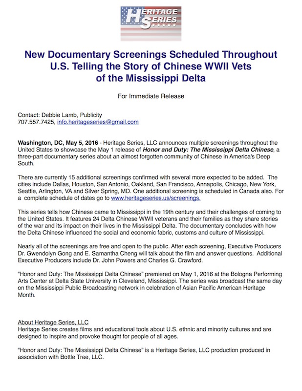 Documentary Screenings scheduled in U.S.