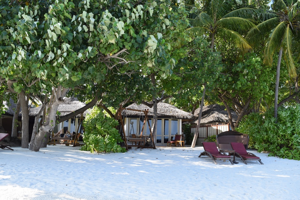 Every villa at Angsana Ihuru had its own part of the island. Four times a day, we'd see a scantily clad, old European couple talking a stroll around the shore.  You could walk the entire island in less than seven minutes.