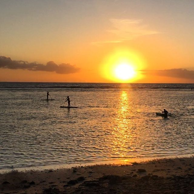 Beautiful sunset on the beach in Reunion Island, had to share it! #latergram #paradise #magicalmoments