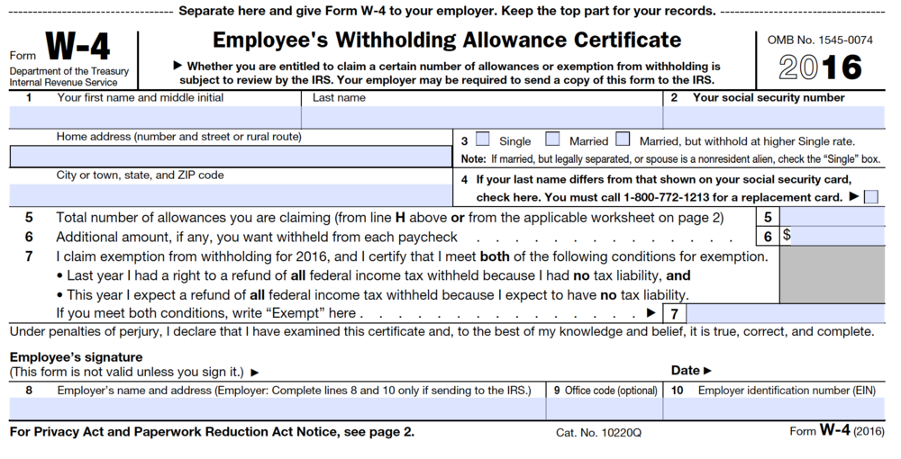 Instructions On How To Fill Form W 7