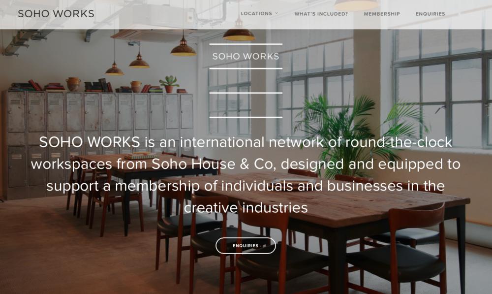 SOHO WORKS http://sohoworks.com