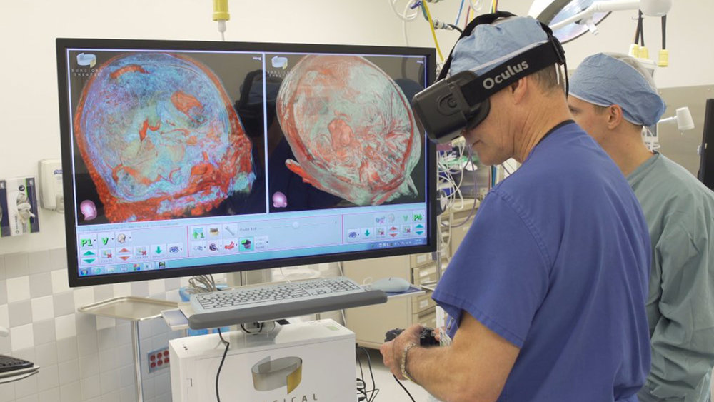 The  Surgical Theatre  initiative leverages VR to bring surgeons inside a patient's skull. Building on existing medical data like MRI scans to create custom 3D virtual models, surgeons can dry run complex brain surgeries before they make a single incision.  Read more at:  https://goo.gl/6k7avY