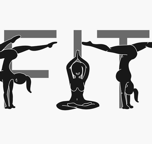 NAKED FITNESS —A play on expressive type. - typography, illustration