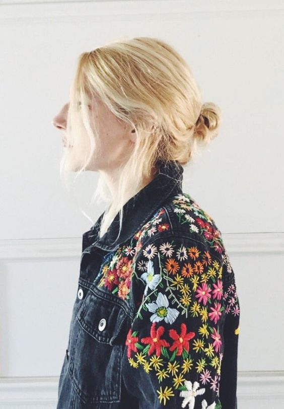 Hand Embroidered Vintage Jacket by Tessa Perlow