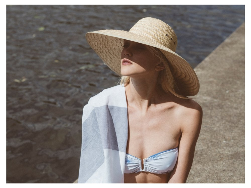 Bkini Top by  La Lesso   Towel by  Hammam Havlu   Hat, Stylists Own