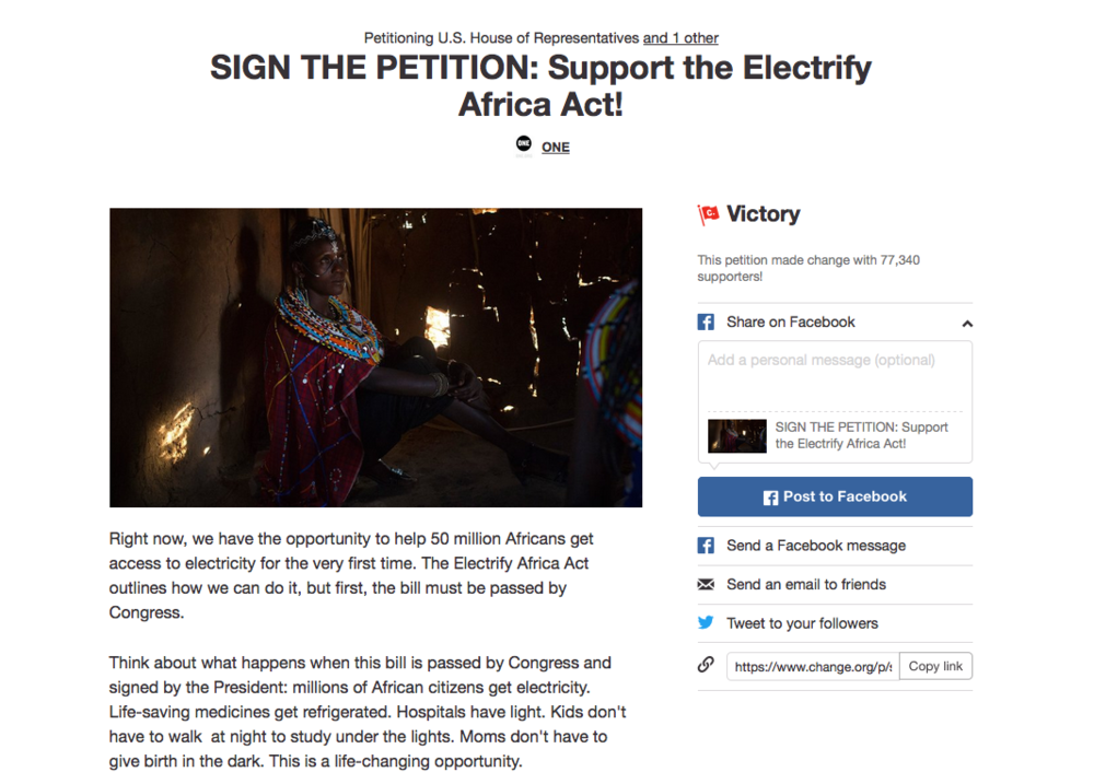 ONE-petition