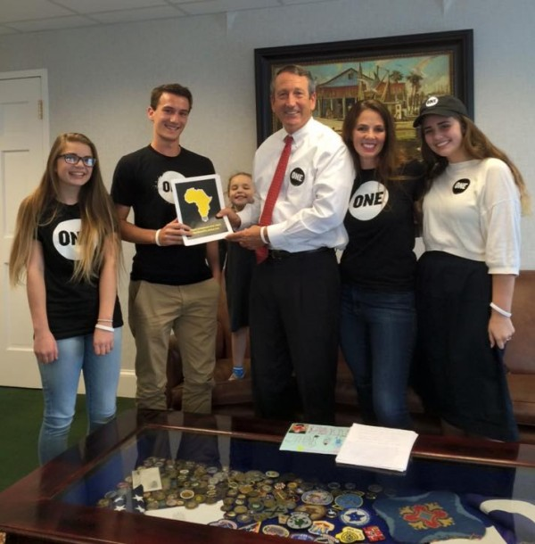 Rep. Mark Sanford of South Carolina; Photo courtesy of ONE