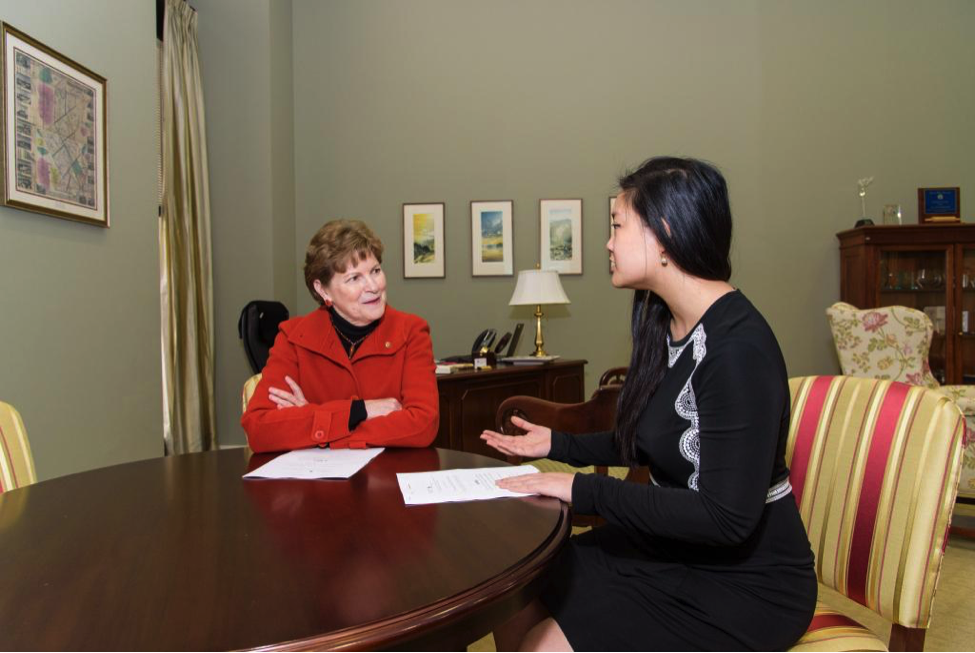Amanda meeting with Sen. Jeanne Shaheen (D-NH)