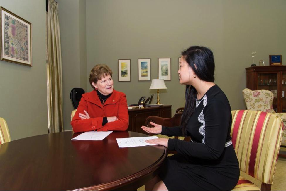 Amanda Nguyen and Sen.Jeanne Shaheen (D-NH)