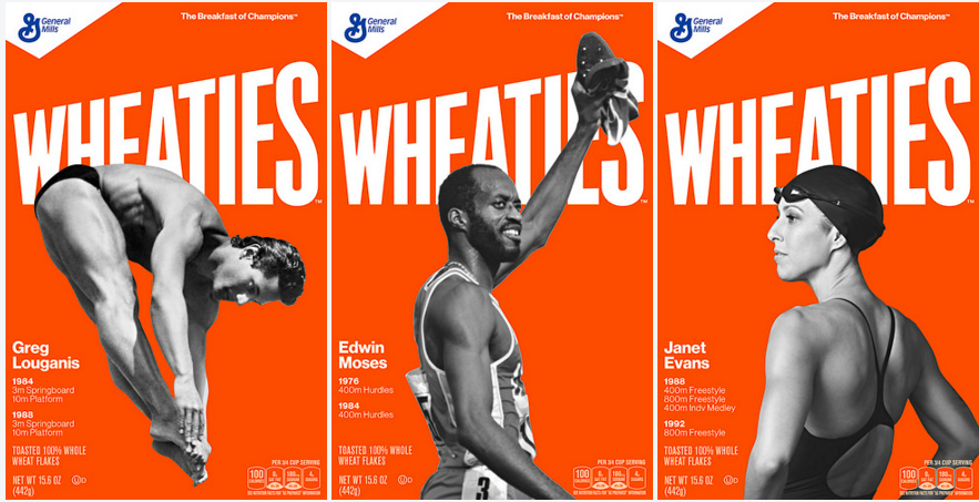 The new Wheaties boxes will be available beginning in May.