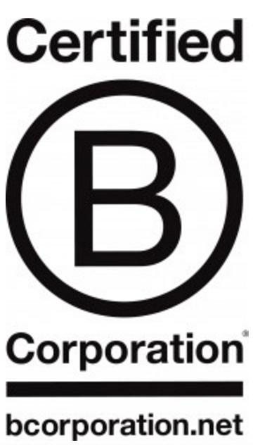 Change.org ist ein Sozialunternehmen und als solches als B Corp extern zertifiziert.
