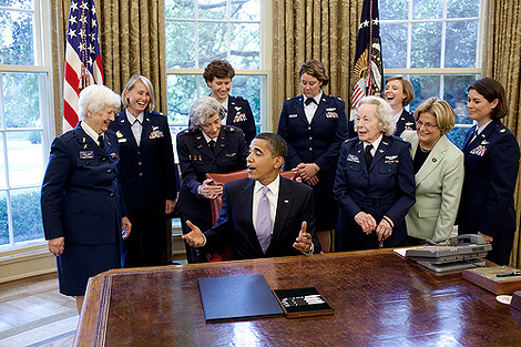 The WASP with President Obama