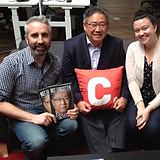 Photo of Mike Jones, Kenneth Bae, and Kate Davey.
