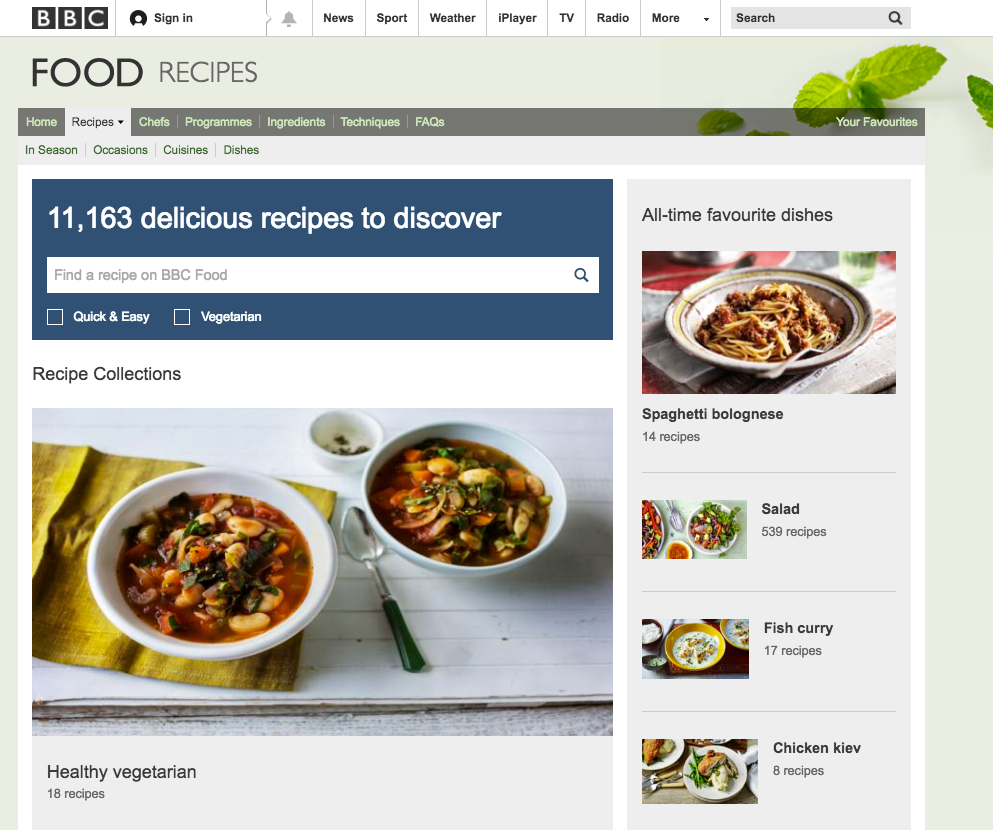 The BBC Food recipes are to be removed as part of plans to slash the corporation's budget