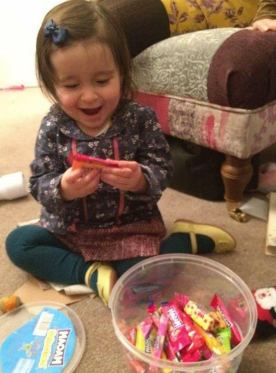 Turning two: Gabriella will mark her second birthday without both her parents