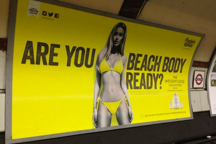 Body-shaming: Protein World defended its advert but it was later withdrawn by Transport for London
