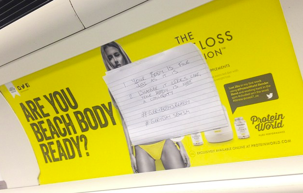 Banned: The London Mayor says it's 'high time' adverts like this 'came to an end'