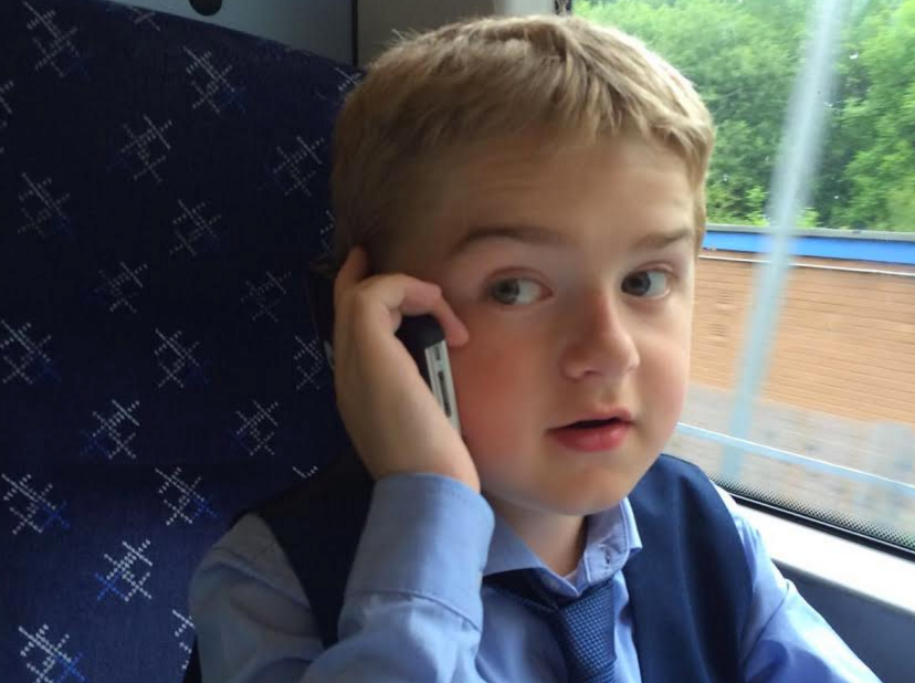 Young campaigner: Michael took a train to Edinburgh for his meeting with the First Minister