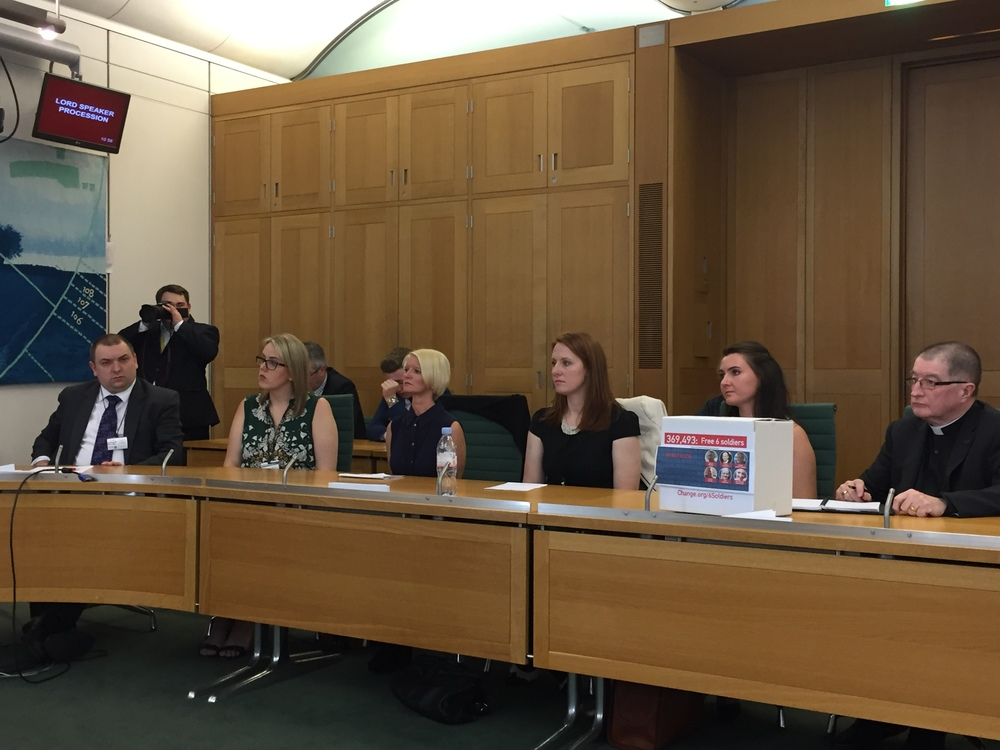 Parliament lobby: MPs, families of the other jailed men and seafaring organisations spoke at the meeting organised by MP Kirsten Oswald