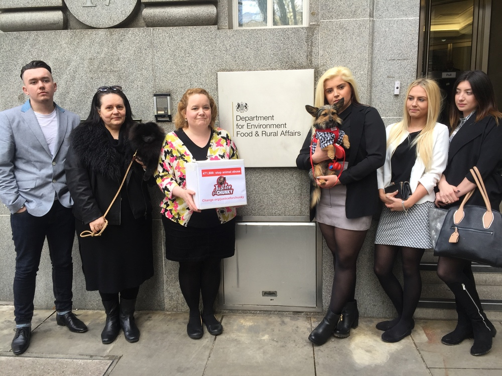 Justice for Chunky: Maxine's campaigning for an animal abuse register in the UK