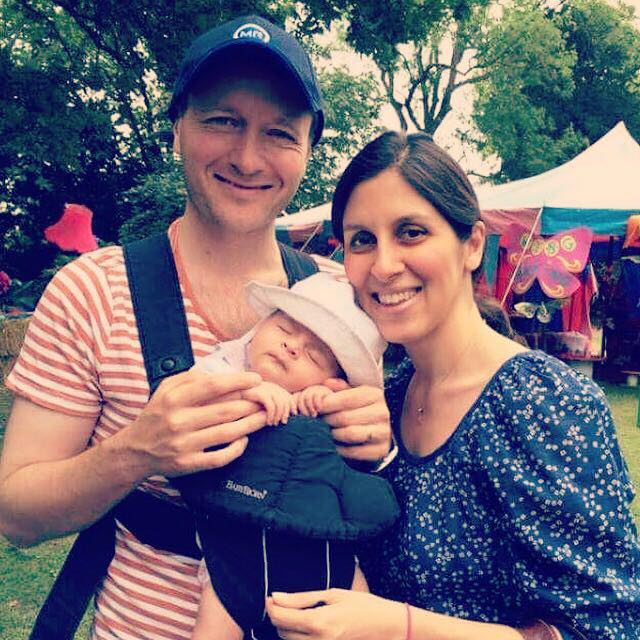 Torn apart: Richard has been campaigning for his wife Nazanin's release for over 115 days