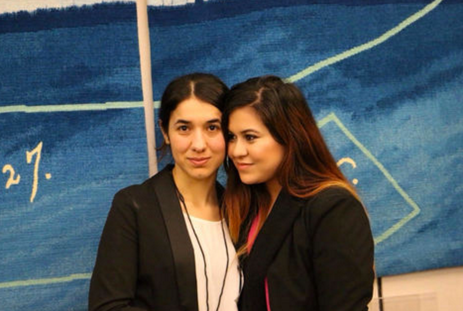 Friends: Nadia and Rozin have joined forces and helped work on a play about the Yazidi genocide as part of their campaign calling on international governments to intervene