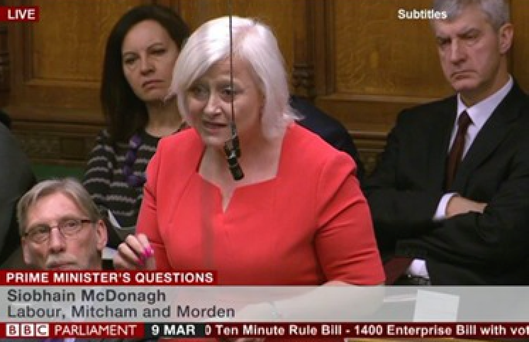 Demanding answers: Siobhain McDonagh has called on the government to ensure companies 'not abiding by the spirit of the new National Living Wage' are stopped from making changes to pay