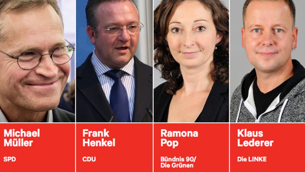 Die 4 Spitzenkandidat/innen mit Chancen auf das höchste Amt Berlins