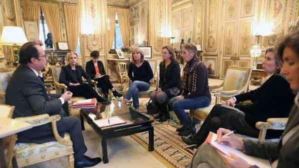 François Hollande a reçu les filles de Jacqueline Sauvage le 29 janvier à l'Elysée