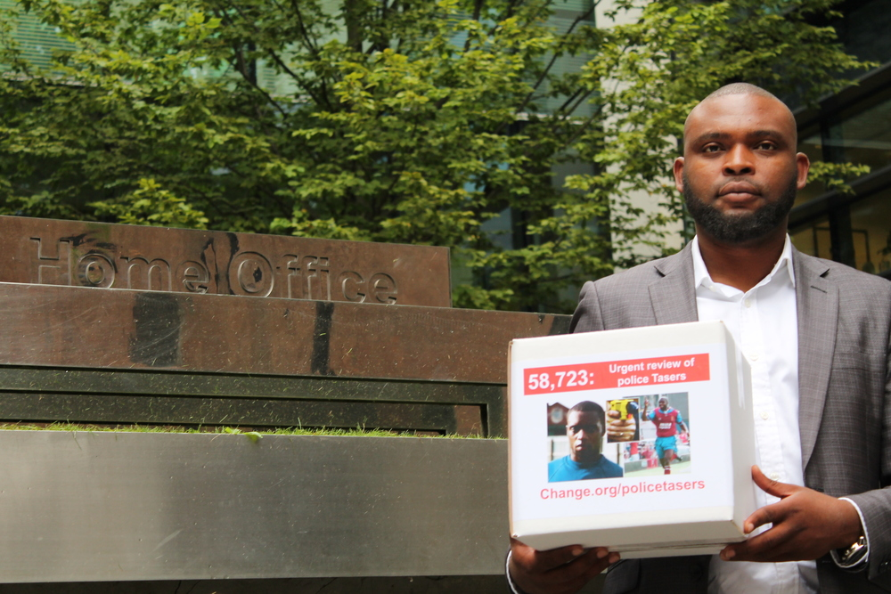 Taser review: Jason Jackson hands in his 62,000 strong petition
