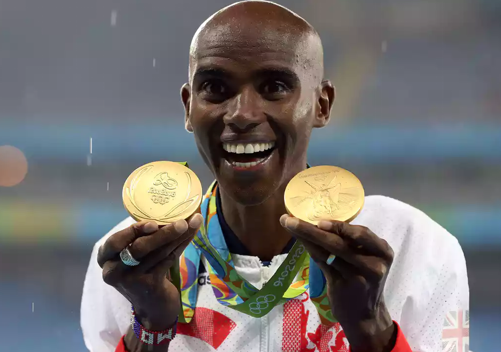 Double win: Mo Farah took two gold medals at this the Olympics in Rio this year