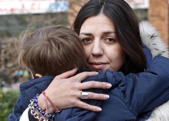 Damaris y su hijo Paquito. Foto: El Mundo / Pablo Lorenzada