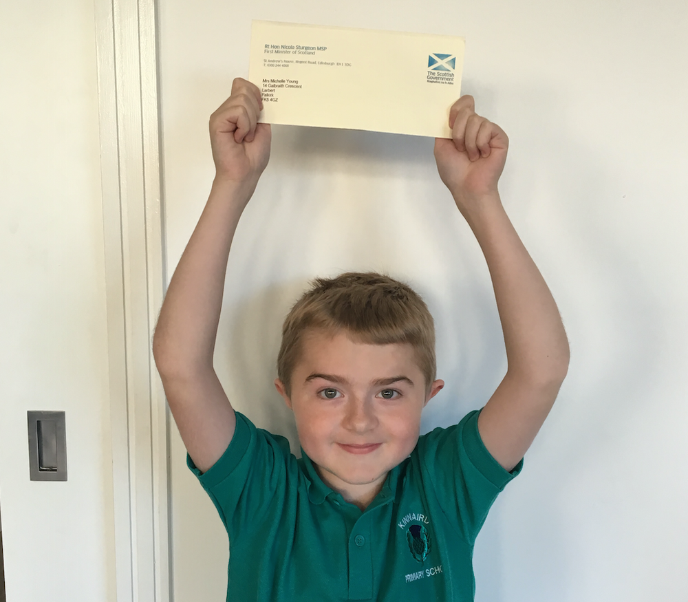 Victory! Michael received a personal letter from the First Minister telling him he would receive the drug Translarna