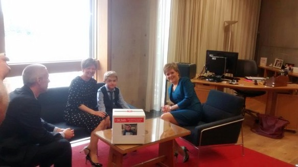 Private meeting: Michael met with Nicola Sturgeon in June to ask for her support