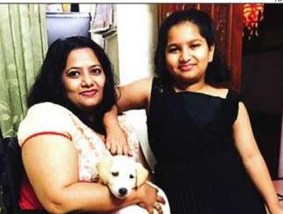Alaknanda Vaidya with her daughter