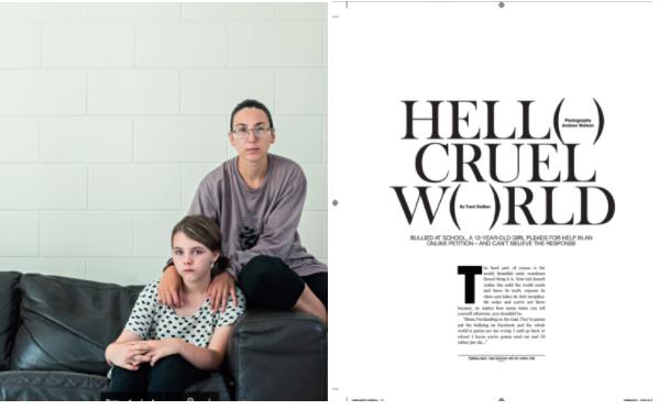 Tayla in The Weekend Australian Magazine