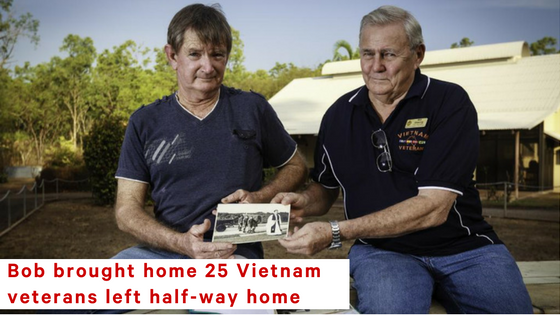 Bob's petition brough home 25 Vietnam war heroes, including his best mate - Reg