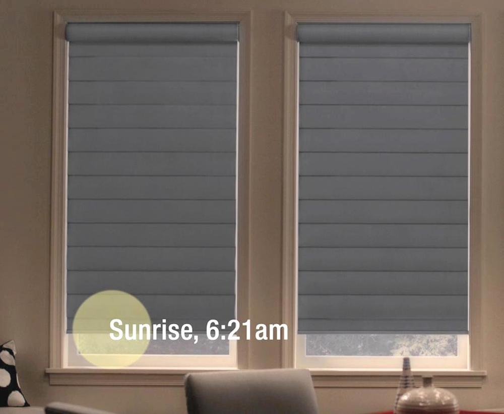 Motorization for Window Treatments Near Carlsbad, California (CA) to Coordinate with Sunrise and Sunset Timing