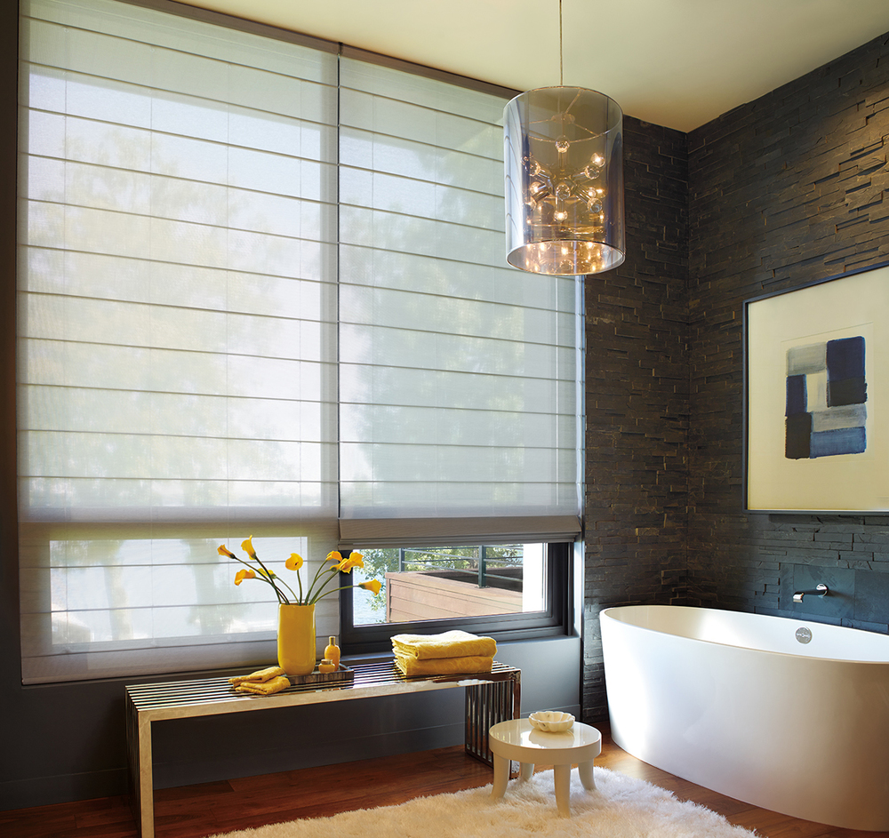 Hunter Douglas   Alustra® Collection    featuring Alustra® Woven Textures® Roman Shades    Learn More