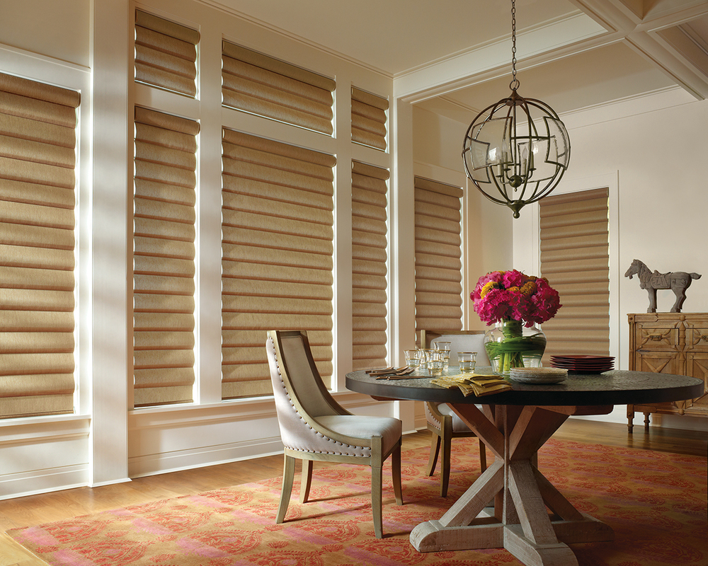 Alustra® Collection of Custom Shades for Windows Near Carlsbad, California (CA) like Pirouette in Dining Rooms