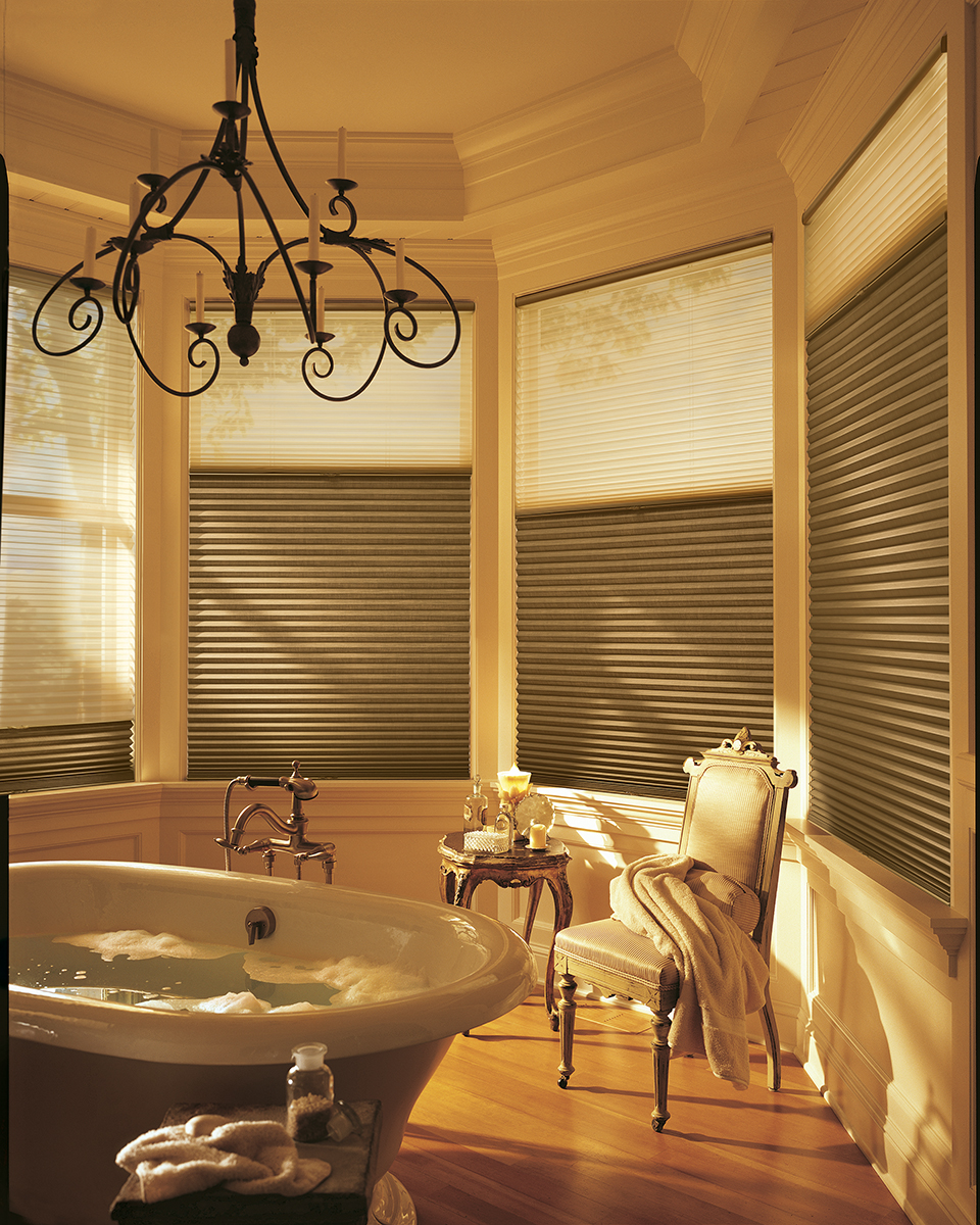 Alustra® Collection of Custom Shades for Windows Near Carlsbad, California (CA) like Duette Honeycomb in Bathrooms