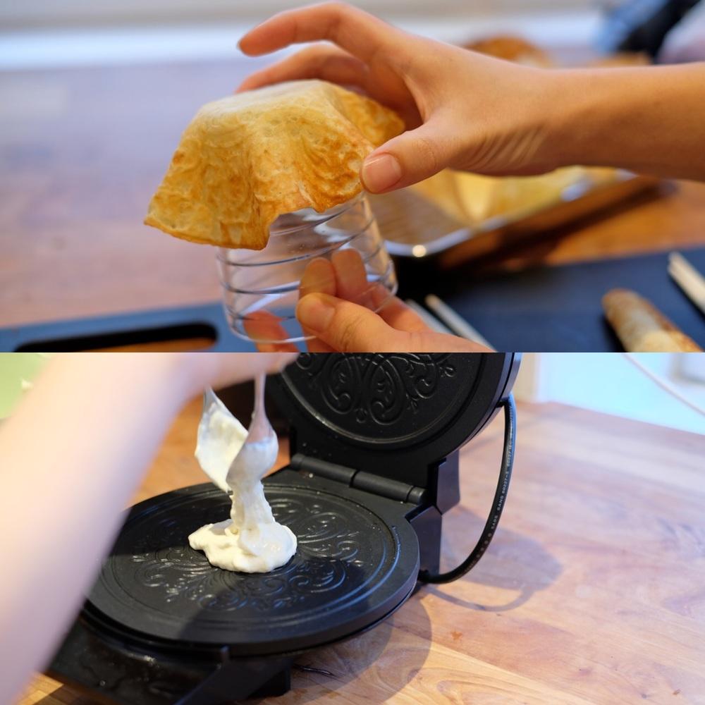 伝統的な模様の入ったサワークリームクッキーstrull