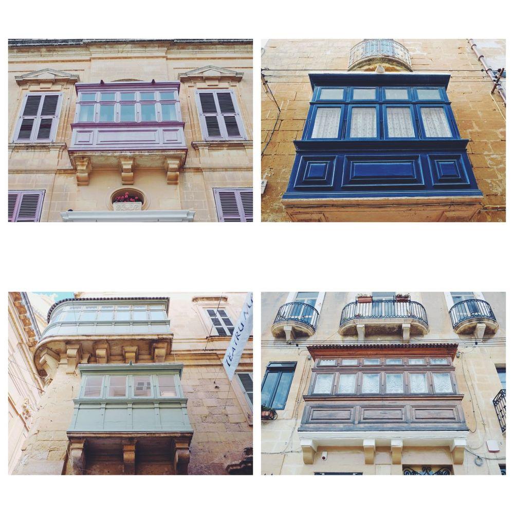 マルタ島の伝統的な出窓