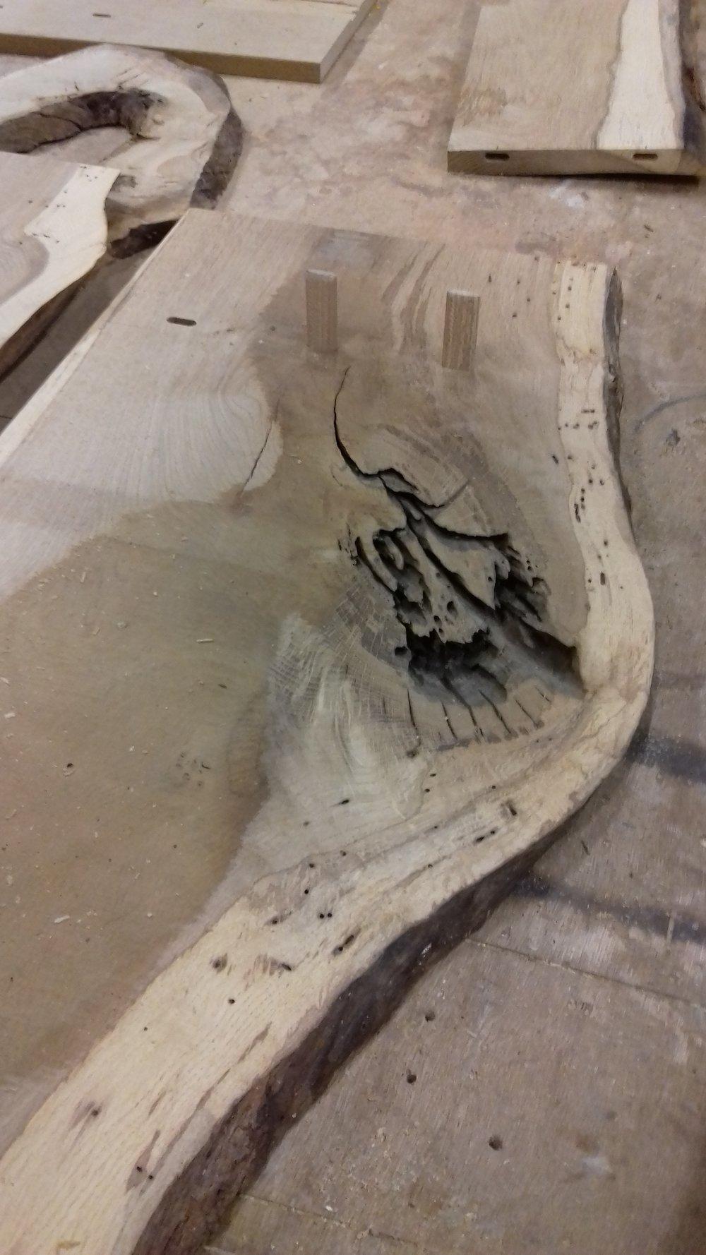 planche de chêne récupérée mon atelier partagé menuiserie lyon