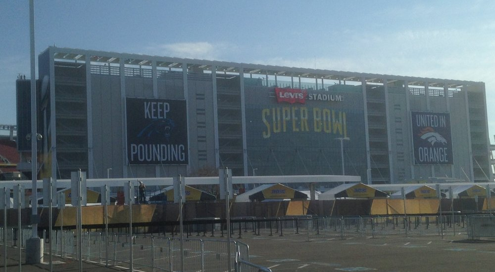 Outside Levi's Stadium - Super Bowl 50