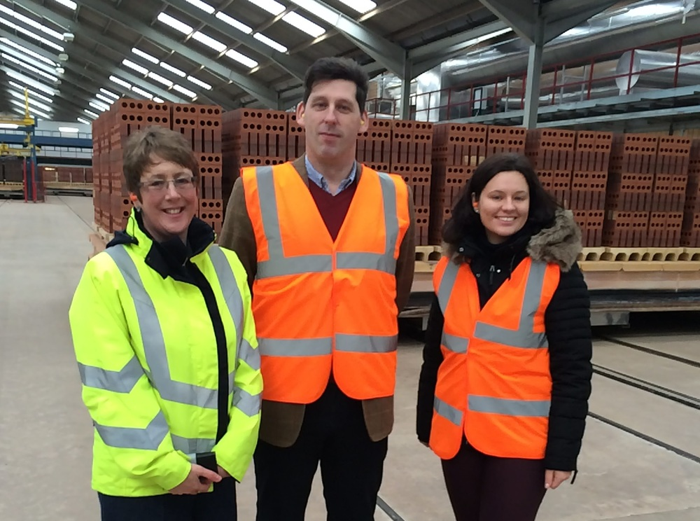 MEP Ian Duncan with BCC Chief Executive Laura Cohen and TBE Secretary General Magdalena Vallebona