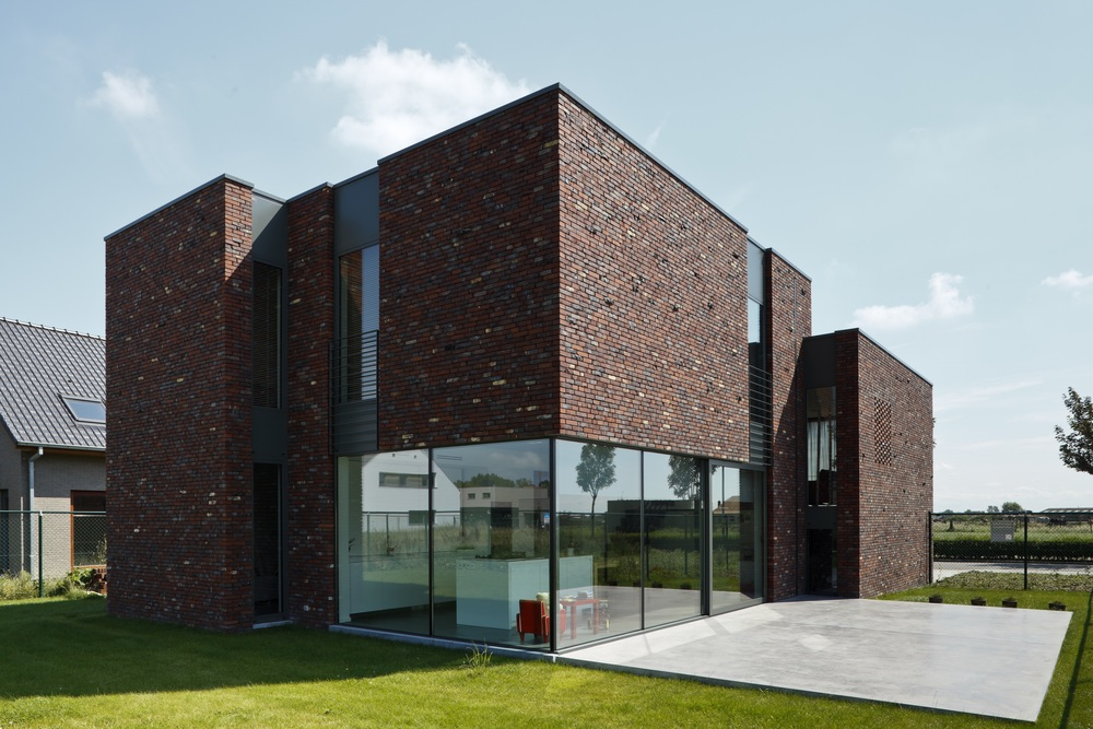 Modern Belgian brick house ((Belgian Brick Federation)